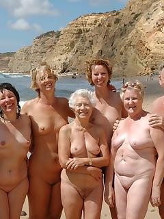 Granny naked on beach